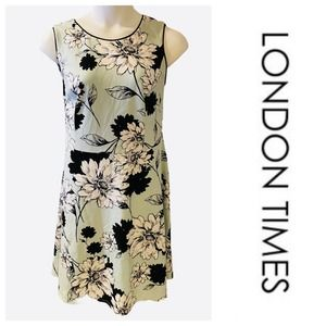 ❤️London Times Mint Green Floral A-line Day Dress